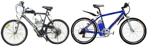 Read more about the article Motorized Bicycles – Gas v Electric