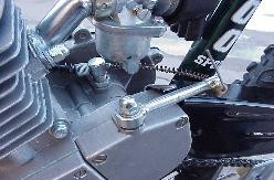 Clutch cable on engine