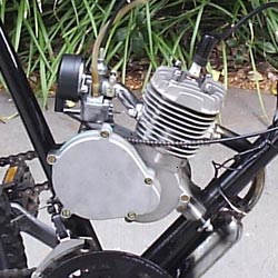 Bicycle engine in frame