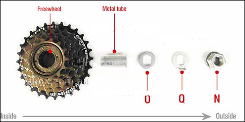 gear cluster spacer