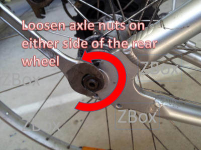 Remover bicycle wheel