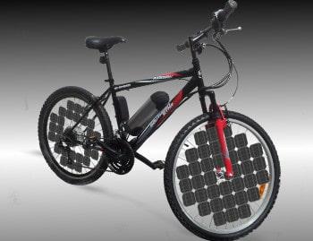 Solar powered ebike