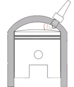 Cylinder head with offset spark plug