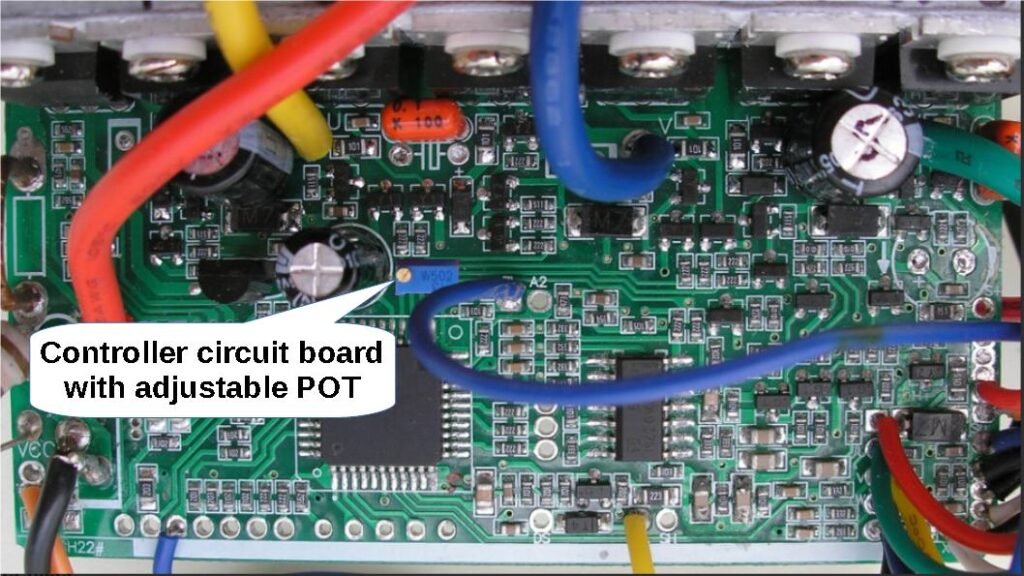 Variable POT on the controller circuit board