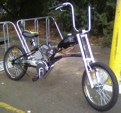 Low rider chopper bicycle