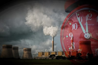 Carbon emissions from electric power plant
