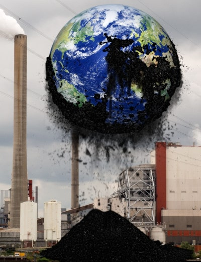 Carbon emissions from electric power station