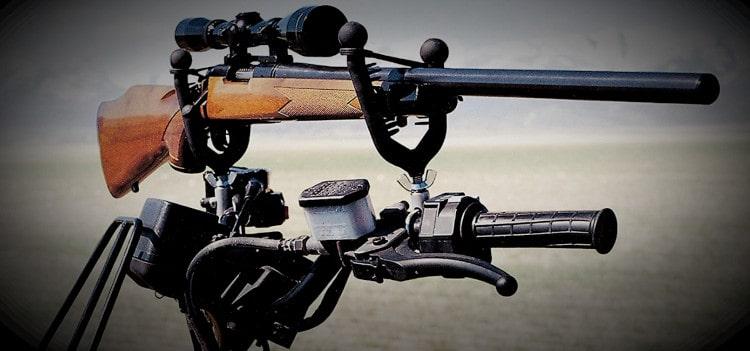 Handlebar rifle mount