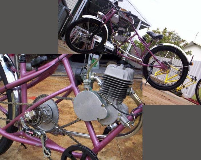 Purple bobber bike