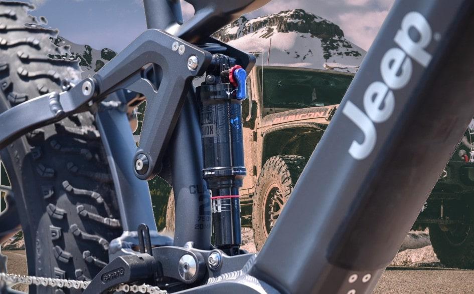 Jeep e-bike close up