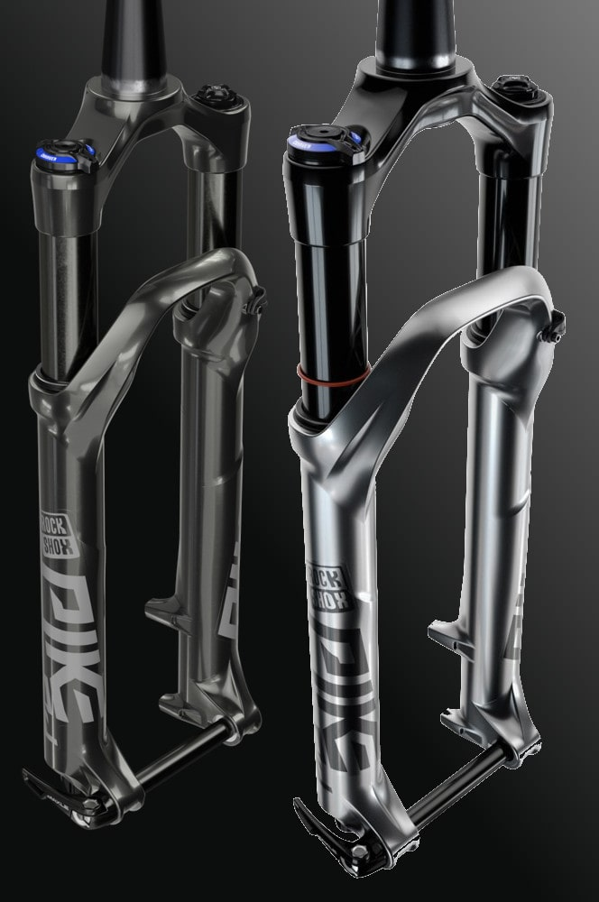Silver and black Pike DJ forks